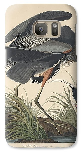 Great Blue Heron Galaxy S7 Case by Dreyer Wildlife Print Collections