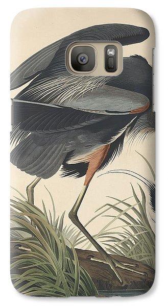 Great Blue Heron Galaxy Case by Rob Dreyer