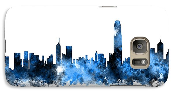 Hong Kong Galaxy S7 Case - Hong Kong Skyline by Michael Tompsett
