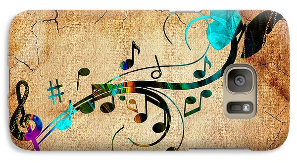Music Flows Collection Galaxy Case by Marvin Blaine