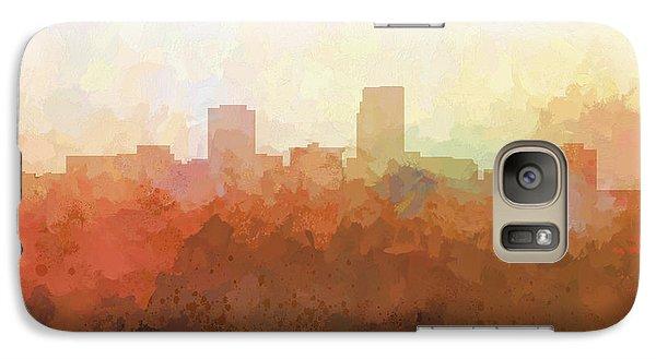 Galaxy Case featuring the digital art Omaha Nebraska Skyline by Marlene Watson