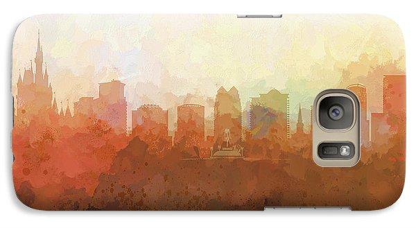Galaxy Case featuring the digital art Orlando Florida Skyline by Marlene Watson