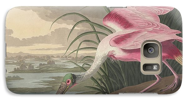 Spoonbill Galaxy S7 Case - Roseate Spoonbill by John James Audubon