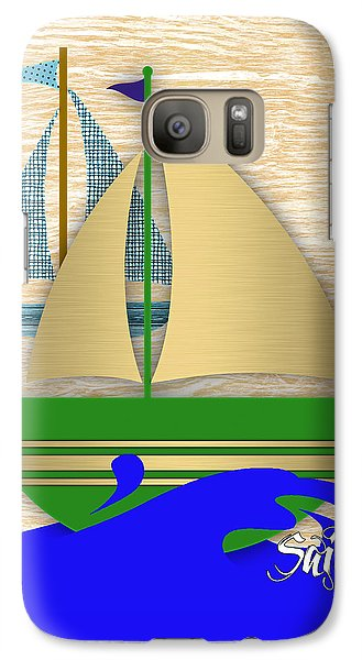 Boat Galaxy S7 Case - Sailing Collection by Marvin Blaine