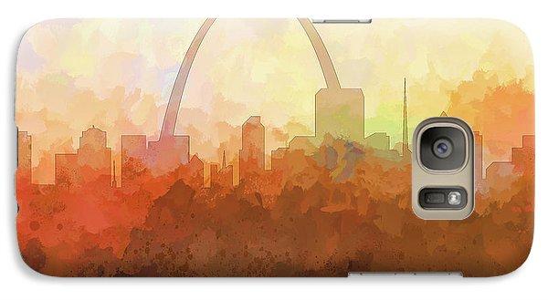 Galaxy Case featuring the digital art St Louis Missouri Skyline by Marlene Watson