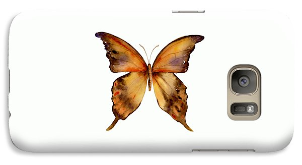 7 Yellow Gorgon Butterfly Galaxy S7 Case by Amy Kirkpatrick
