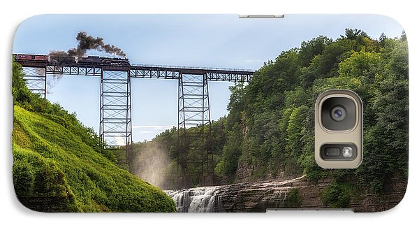 Galaxy Case featuring the photograph 765 Over Upper Falls by Mark Papke