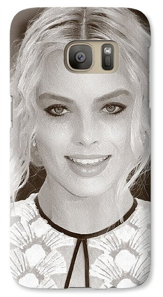 Orlando Bloom Galaxy S7 Case - Actress Margot Robbie by Elizabeth Simon