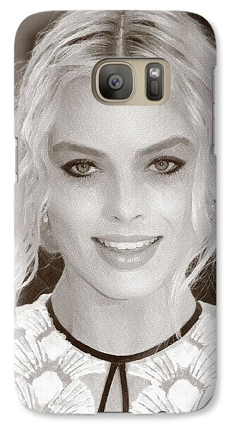 Actress Margot Robbie Galaxy S7 Case by Best Actors