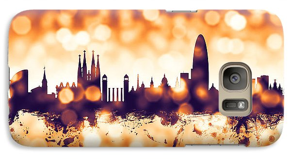 Barcelona Galaxy S7 Case - Barcelona Spain Skyline by Michael Tompsett