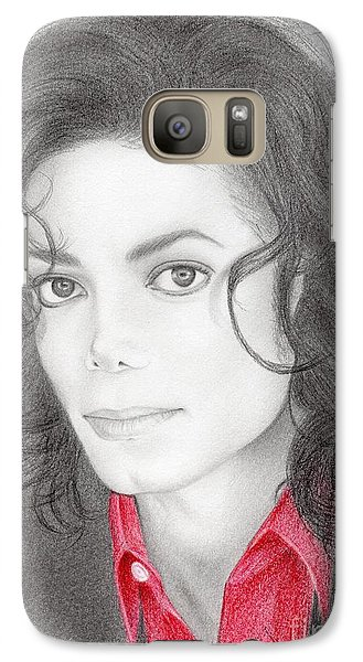 Galaxy Case featuring the drawing Michael Jackson #two by Eliza Lo