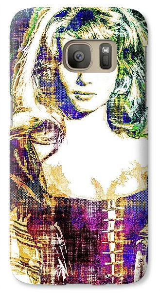 Galaxy Case featuring the mixed media Michele Mercier by Svelby Art