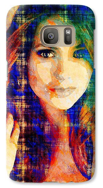 Galaxy Case featuring the mixed media Nina Dobrev by Svelby Art