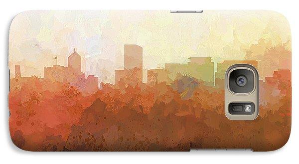 Galaxy Case featuring the digital art Portland Oregon Skyline by Marlene Watson
