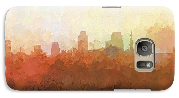 Galaxy Case featuring the digital art Sacramento California Skyline by Marlene Watson