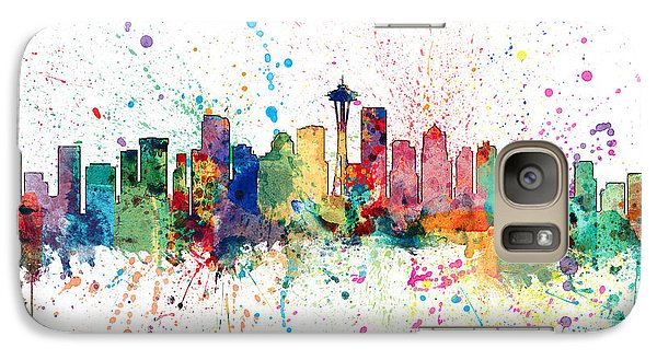 Seattle Washington Skyline Galaxy S7 Case by Michael Tompsett