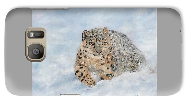 Snow Leopard Galaxy S7 Case by David Stribbling