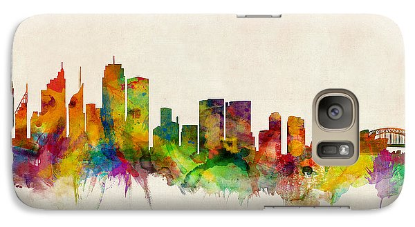 Sydney Australia Skyline Galaxy Case by Michael Tompsett
