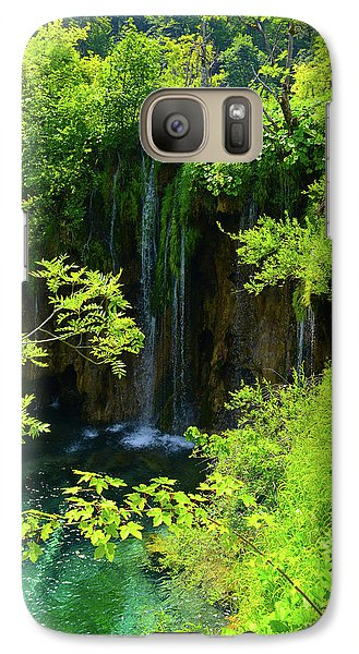 Waterfall In Plitvice National Park In Croatia Galaxy S7 Case