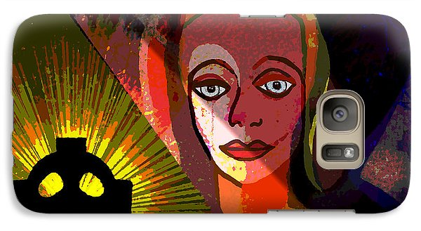 Galaxy Case featuring the digital art 863 - A Celtic Cross by Irmgard Schoendorf Welch