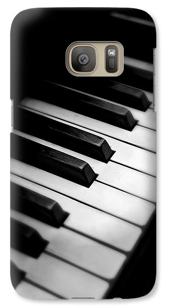 Galaxy Case featuring the photograph 88 Keys To The Heart by Aaron Berg