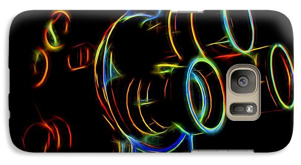 Galaxy Case featuring the photograph 8mm In Neon by Mark Miller