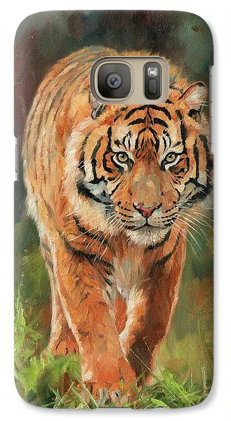 Amur Tiger Galaxy S7 Case by David Stribbling