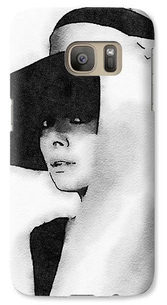Audrey Hepburn Galaxy Case by John Springfield