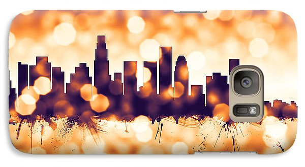 Los Angeles California Skyline Galaxy S7 Case by Michael Tompsett