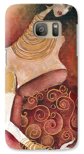 Galaxy Case featuring the painting 9 Months by Maya Manolova