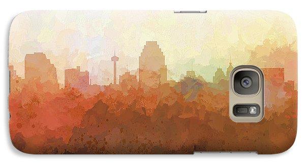 Galaxy Case featuring the digital art San Antonio Texas Skyline by Marlene Watson