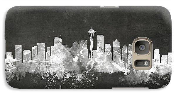 Seattle Washington Skyline Galaxy S7 Case by Michael Tompsett