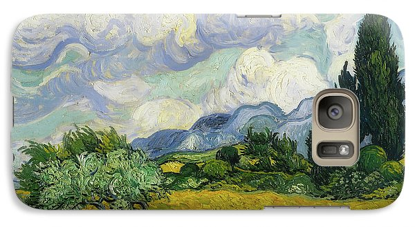 Galaxy Case featuring the painting Wheat Field With Cypresses by Vincent van Gogh