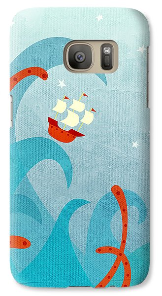 Boat Galaxy S7 Case - A Bad Day For Sailors by Nic Squirrell