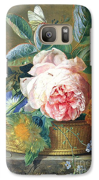 A Basket With Flowers Galaxy S7 Case