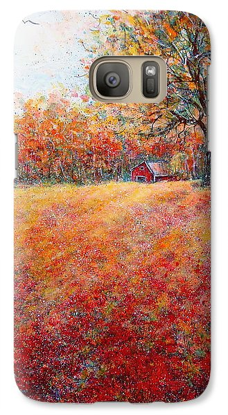 Galaxy Case featuring the painting A Beautiful Autumn Day by Natalie Holland