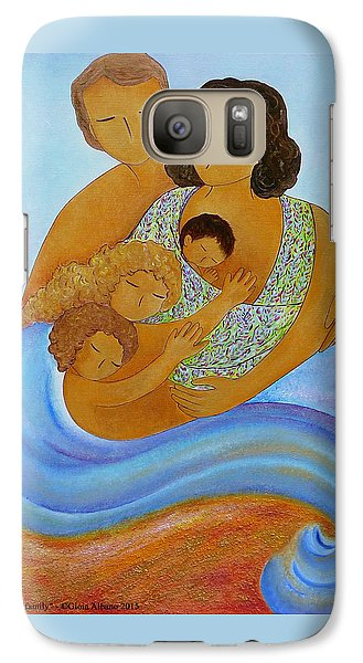 Galaxy Case featuring the painting A Beautiful Family by Gioia Albano
