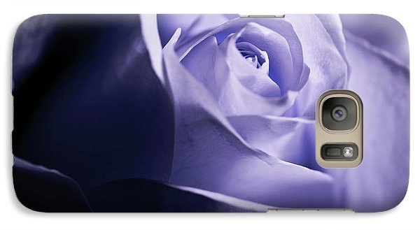 Galaxy Case featuring the photograph A Beautiful Purple Rose by Micah May
