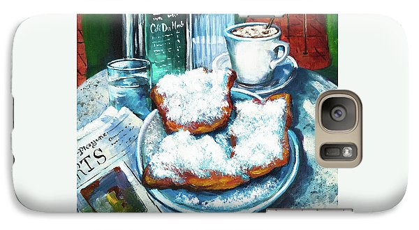 Galaxy Case featuring the painting A Beignet Morning by Dianne Parks