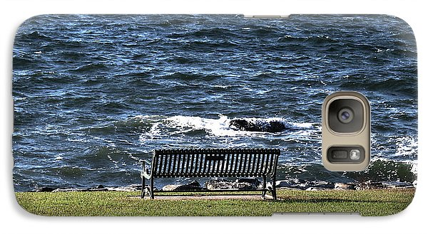Galaxy Case featuring the photograph A Bench By The Sea by Tom Prendergast