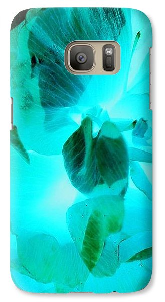 Galaxy S7 Case - A Bloom In Turquoise by Orphelia Aristal