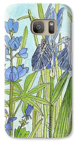Galaxy Case featuring the painting A Blue Garden by Laurie Rohner