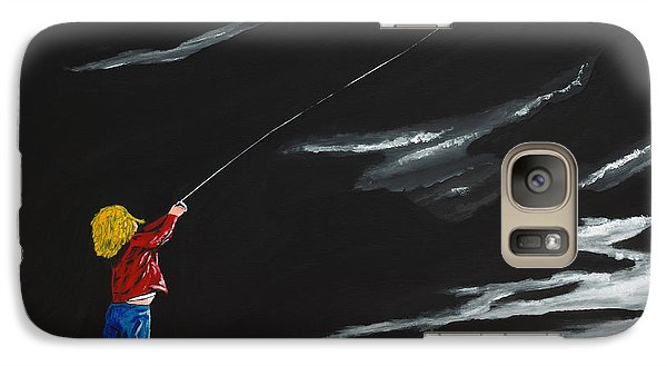 Galaxy Case featuring the painting A Braw Night For Flight by Scott Wilmot