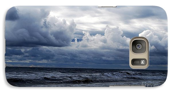 Galaxy Case featuring the photograph A Break In The Storm by Linda Mesibov