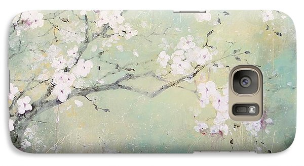 Galaxy Case featuring the painting A Breath Of Spring by Laura Lee Zanghetti
