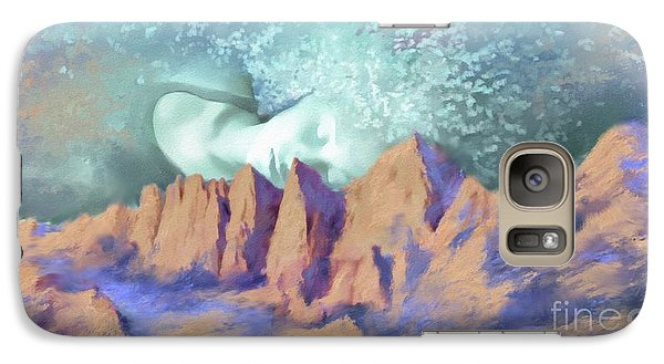 Galaxy Case featuring the painting A Breath Of Tranquility by S G