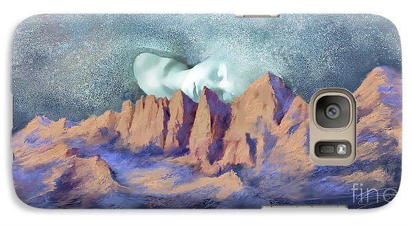 Galaxy Case featuring the painting A Breath Of Tranquility by Sgn
