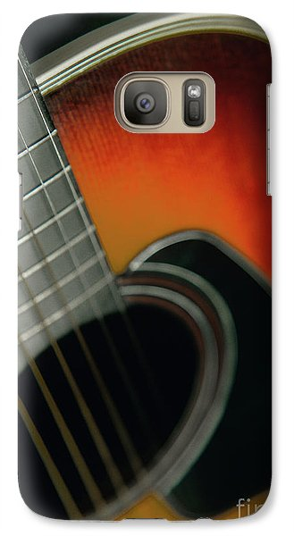 Galaxy Case featuring the photograph  Guitar  Acoustic Close Up by Bruce Stanfield