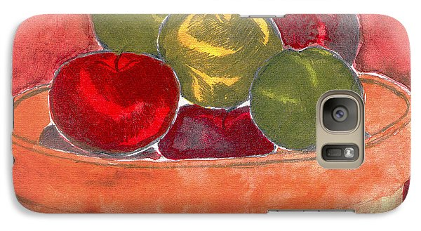 Galaxy Case featuring the painting A Bucket Full Of Apples by Saad Hasnain