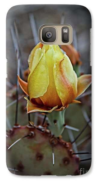Galaxy Case featuring the photograph A Bud In The Thorns by Robert Bales
